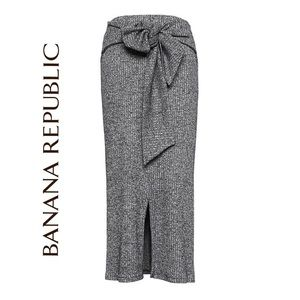 Banana Republic Ribbed Luxespun Tie-Waist Skirt